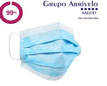 Mascarillas quirúrgicas tipo II R. Mascarillas quirúrgicas médicas tipo II R, homologadas y con 99% filtración. Pack 50