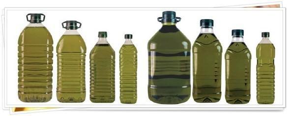 Formatos PET. Envases PET de aceite de oliva