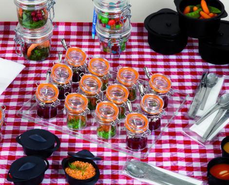 Vajilla Desechable de Diseño.Miniaturas desechables para catering y restauración