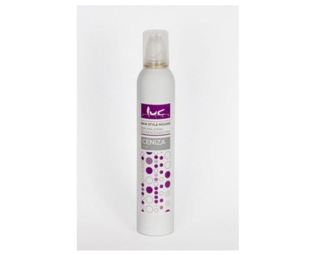 Espuma Spray Ceniza. Aporta brillo y suavidad