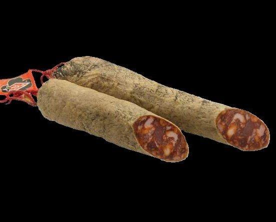 Chorizo iberico bellota. Se elabora con las mejores piezas de carne magra del cerdo elaboradas a mano