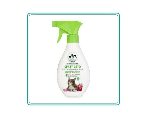 Spray Gato. Ayuda a eliminar los malos olores de las cajas de arena y alargar el tiempo de uso