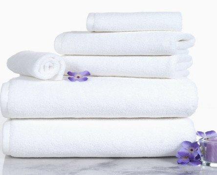 Best Toallas Lisas. Toalla baño listada de varias medidas, color blanco, 100% Algodón.