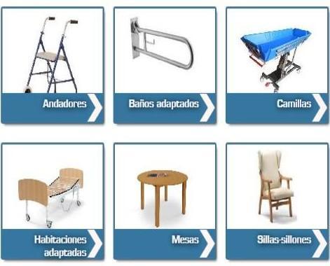 Geriatría. Mobiliario hospitalario, equipamiento clínico