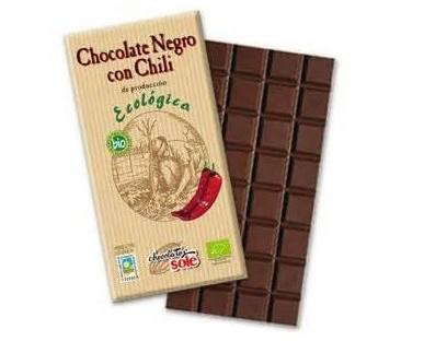 Chocolate con chili. Chocolate con chili ecológico