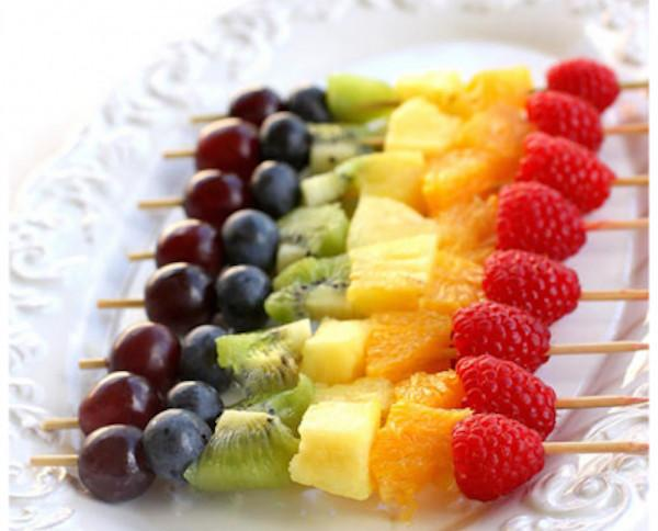 Frutas de IV Gama.Brocheta de frutas