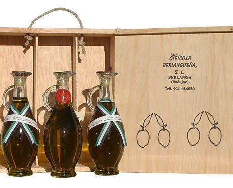 Aceite de Oliva Virgen.Caja 3 botellas