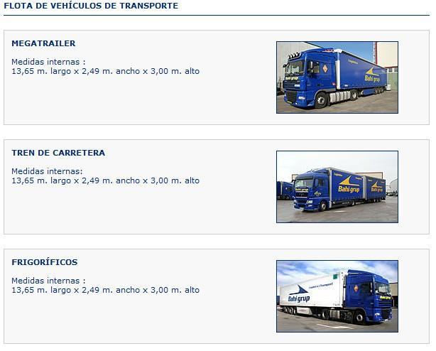 Transporte mercancía. Megatrailer, tren de carretera y frigorífico