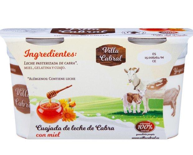 01_FRONTAL con Miel. Cuajada de leche de cabra con miel