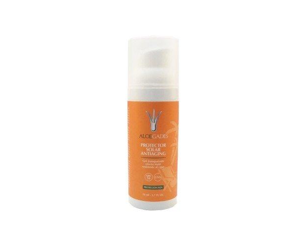 Crema Facial Solar Incolora. Antiaging efecto mate. Excelente prebase. Aplicable sobre el maquillaje.