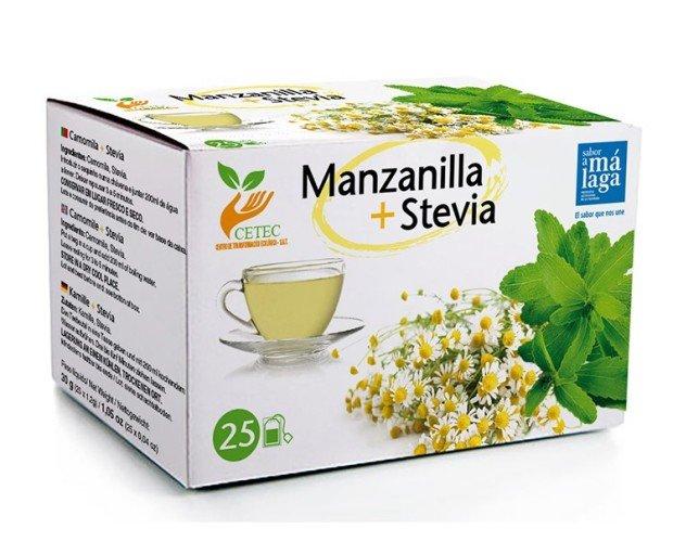 Manzanilla Stevia. a bolsita de infusión tiene la comodidad de no requerir filtros ni otros utensilios