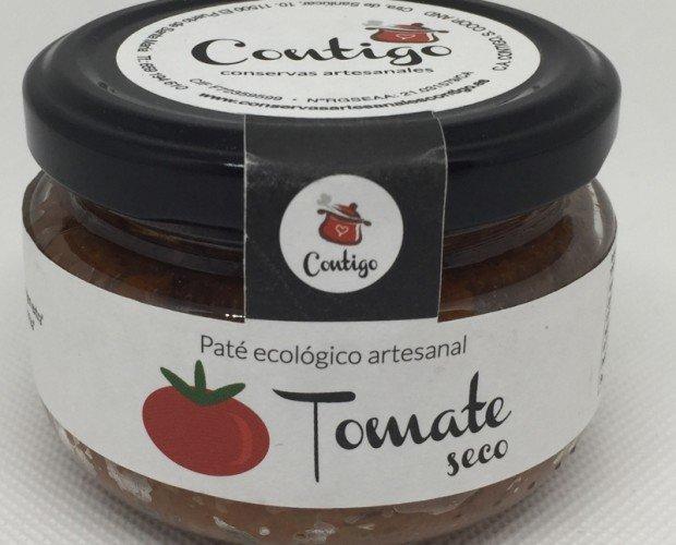 Paté tomate seco Eco. Tomate seco rehidratado*46%, aceituna verde*38%, aceite de oliva virgen extra*, zumo de limón*, ácido láctico origen vegetal, sal...