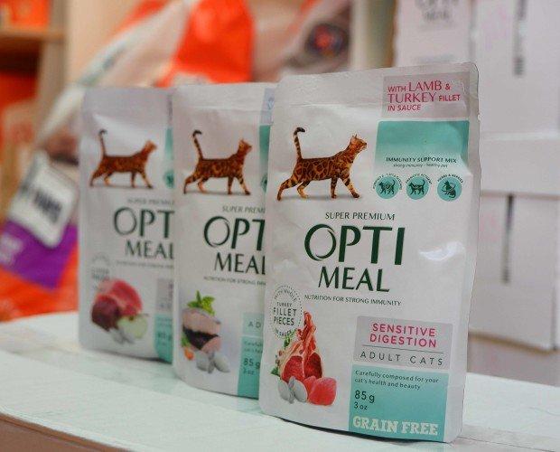 Opti Meal. Comida especial para gatos de compañía