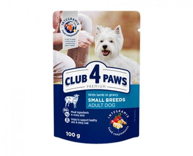 Pienso húmedo para perros adultos. Para perros adultos de razas pequeñas con cordero en salsa