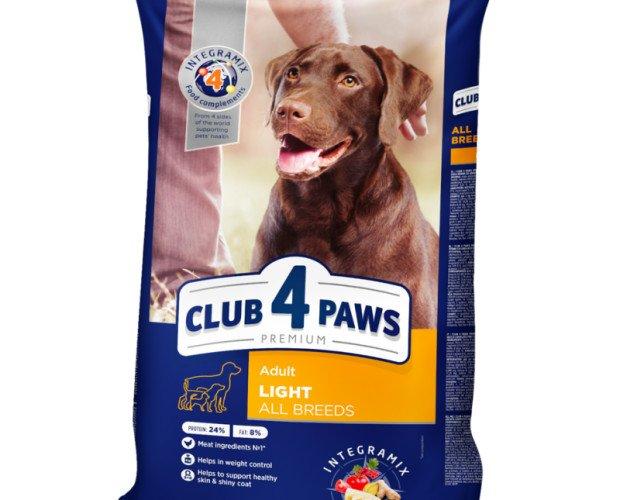 CLUB 4 PAWS Premium Light. Para Conttrol de Peso de Todas Razas 14 kg