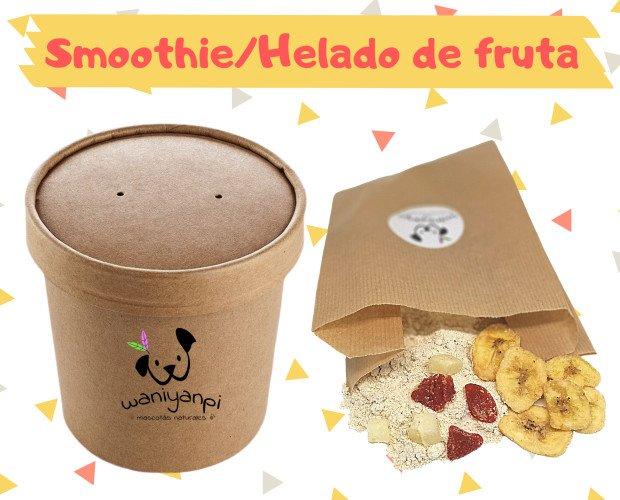 Smoothie helado fruta titulo ok. Smoothies y helados de fruta deshidratada. Sólo añadir agua y congelar!