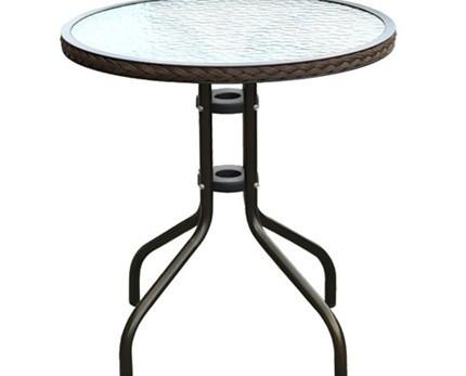 Muebles de Jardín. Mesa de Acero y Cristal