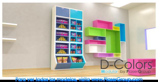 Cajas para Golosinas.D-Colors Modular en colores vibrantes