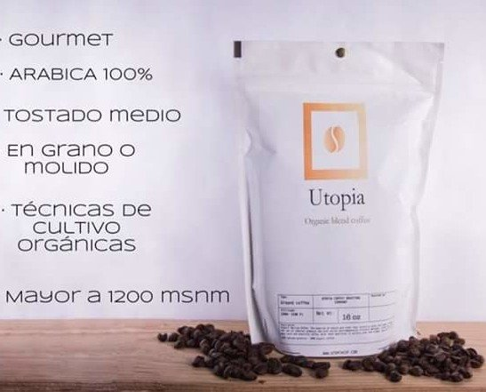 Utopìa Coffee (500g). presentación de bolsa de 500 g  Grano Y Molido