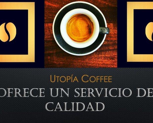 Utopìa Coffee. Ofrece un servicio de calidad para paladares exigentes y conocedores