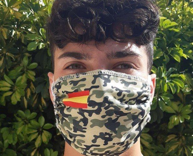 Mascarillas de Tela.Mascarillas de tela bandera España