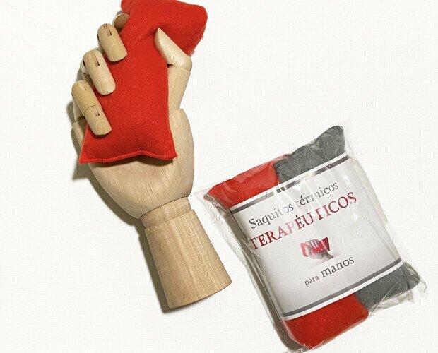 Saquito térmico para manos. Saquito térmico para calentar en el microondas y ejercitar la musculatura de la mano.