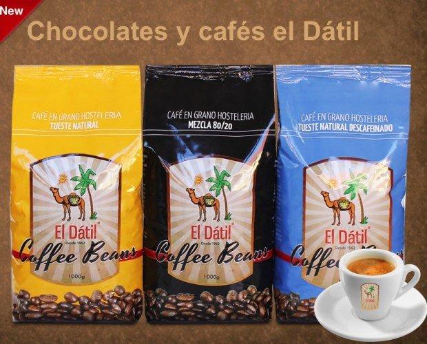 CAFÉS el datil. GRAN CHOCOLATE A LA TAZA Y CAFÉS ARÁBICAS/ROBUSTAS