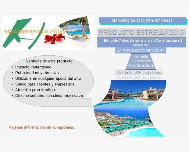 Bonos. Bonos de 7 días de estancia gratis en Canarias para 2 personas.