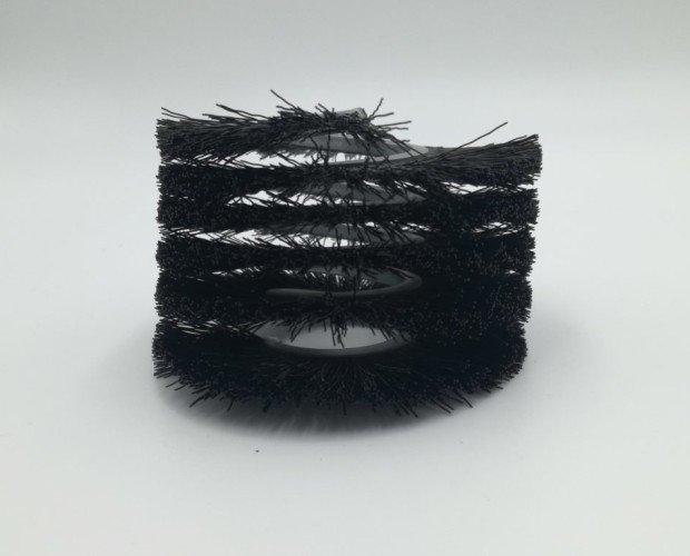 Cepillo Cilíndrico Espiral Metálica. Para instalar en sinfines, hélices, depuradoras