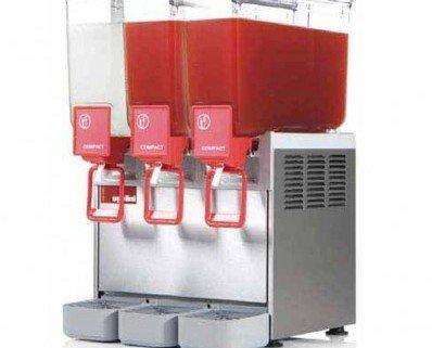 Distribuidor de bebidas frías. Para la refrigeración y distribución de bebidas, zumos, cafés, tés etc Deposito de policarbonato no toxico
