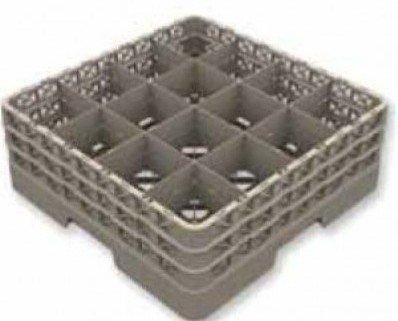 Cesta para vajilla de 16 compartimentos. Altura maxima de la copa 240 mmDiametro maximo de la copa o vaso 113 mmPosibilidad de personalizar con...