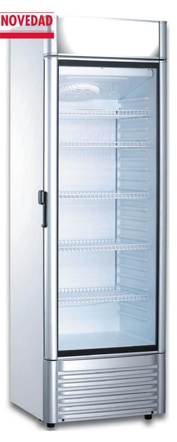 Armario expositor refrigerado. Puerta con doble cristal