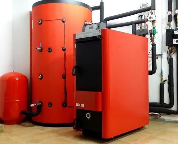 Instalación Turbotec. Caldera de gasificación de leña STREBEL Turbotec