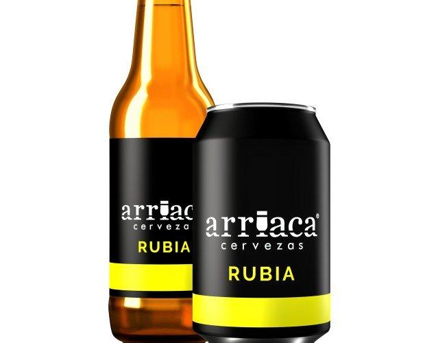 Arriaca RUBIA. Rubia Lager de baja fermentación, refrescante y ligera. Volumen Alcohol: 4,3%