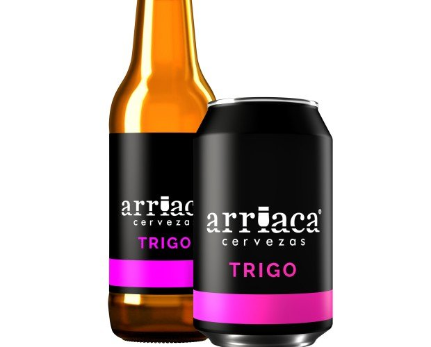 Arriaca TRIGO. Cerveza de trigo de fermentación alta, ligera, afrutada y muy refrescante. Volumen Alcohol 4,7%