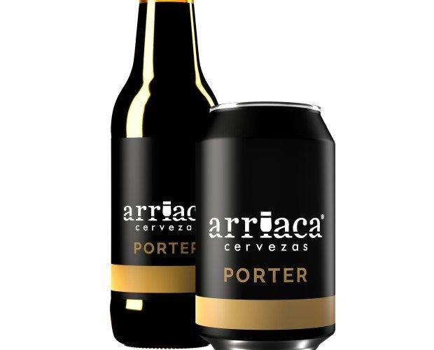 Arriaca PORTER. Cerveza negra, oscura y licorosa. Volumen Acohol 5,9%