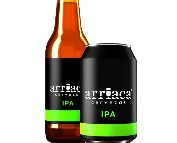 Arriaca IPA. Cerveza de fermentación alta con marcado carácter a lúpulo. Volumen Acohol 6,9%