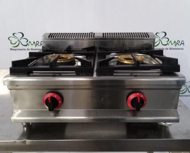 Cocina 2 fuegos. Cocina de 2 fogones industrial. Acero inox