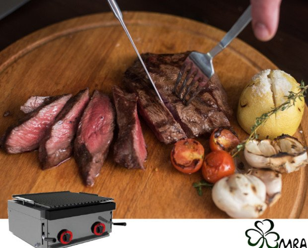 carne. Plancha para cocinar