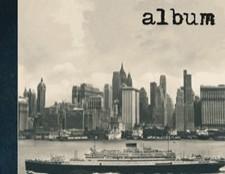 Álbumes de Fotos.Álbum New York 30 hojas de cartulina negra con sedas.