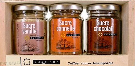 Azúcar aromatizado. Diferentes aromas: chocolate, vainilla, canela.