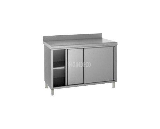 Mesa Mural con Mueble Cerrado. Las puertas pueden ser de corredera o batientes, a preferencia del cliente
