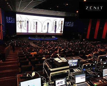 Alquiler de Equipo Audiovisual.Gobos, audiovisuales, escenario led, y control.