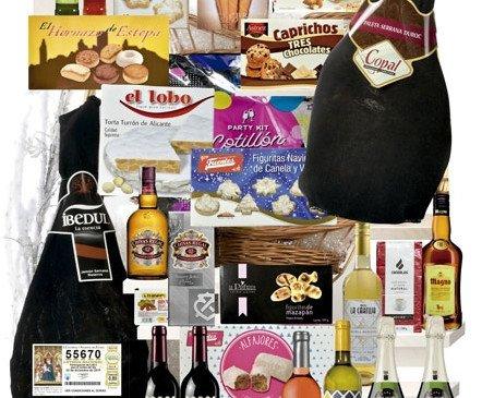 Cesta Estrella. Si amas los vinos y los buenos aperitivos esta es tu cesta ideal.