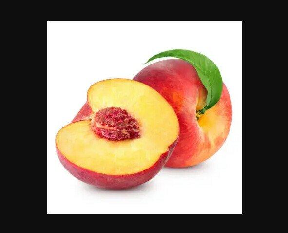 Melocotones. Se trata de un fruto carnoso que posee un color entre blanco, amarillento y anaranjad