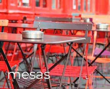 mesas. mobiliario de interior y exterior par anegoocios