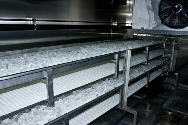 Fabricación. Fabricación de cubitos de hielo