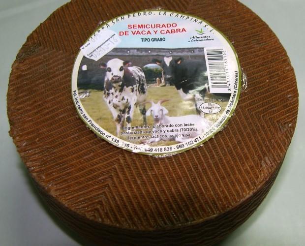 Semicurado mezcla. Semicurado mezcla de vaca y cabra