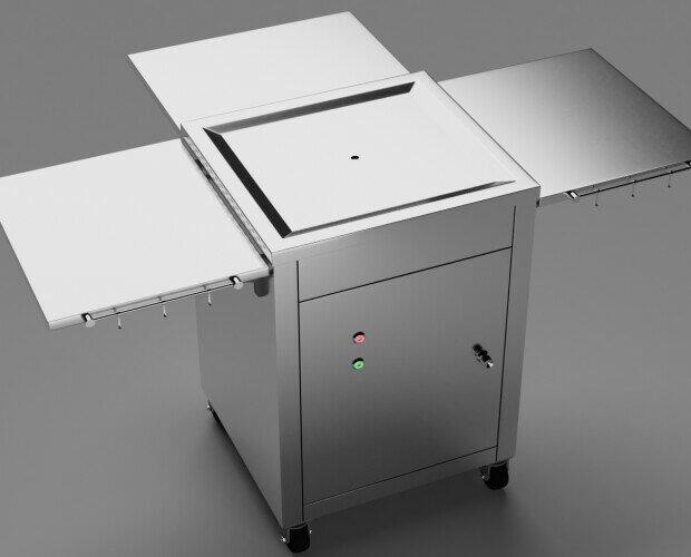 cocinas de exterior al aire libre. Modelo cocina profesional versátil con ruedas incorporadas