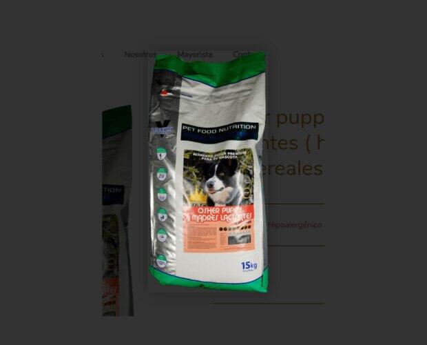 Osher Puppy y Madres Lactantes. Contiene prebióticos (MOS y FOS) que ayudan a que tengan una fácil y ligera digestión